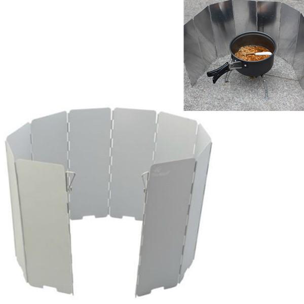 Camping Sammenfoldelig Aluminiumsplader BBQ Komfur Wind Shield Camping & Udendørs Aktiviteter