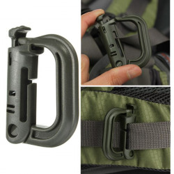 Carabiner Shackle Tactical Safe Buckle Backpack Locking Snap D-Ring