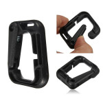 D-Ring D-shaped Strong Carabiner Snap Tactical Backpack Hiking Buckle Camping & Hiking