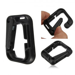 D-Ring D-shaped Strong Carabiner Snap Tactical Backpack Hiking Buckle