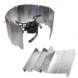 Foldable Outdoor Camping Cooker Wind Shield Board Silver
