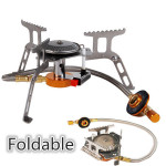 Foldable Outdoor Mini Camping Stainless Steel Gas Stove Camping & Hiking
