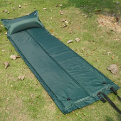 Green 183x57cm Outdoor Camping Mattress Inflatable Cushion Bed Mat