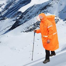 Wandern Camping Regenjacke Rucksack Abdeckung Reflektierende Poncho