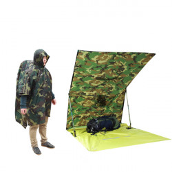Wandern Regenjacke Rucksack Schutzabdeckung Schutz Mat Reflex Poncho