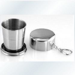 Large Flexible Folding Stainless Steel Parade Portable Water Cup