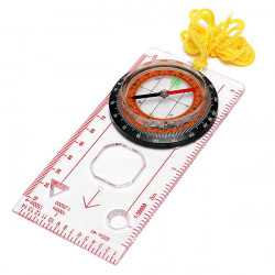 Map Compass Ruler Scale Baseplate For Hiking Camping Boating