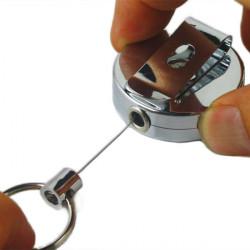 Metal Rullar Emblem Steel Wire Retractable Spänne Snodd Bältesklips