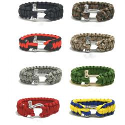 Multi Color Cord Außen Emergency Quick Release Überlebens Armband