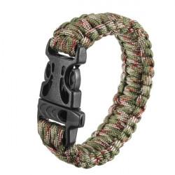 Flera Färger Rep Quick Release Survival Armband med Visselpipa