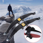 Skridsikker Spikes Ice Sne Klatrejern Sko Kæde Cleat for Klatring Vandring Camping & Udendørs Aktiviteter