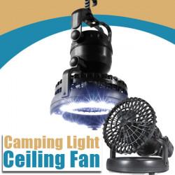Camping 2-I-1 LED-ljus och Takfläkt Använda i Tent