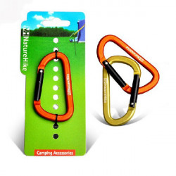 Outdoor Camping Carabiner Aluminum Alloy 8cm Multi-function Buckle