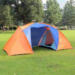 Outdoor Camping Double Layer 2-4Person 1 Hall 2 Rooms Tent