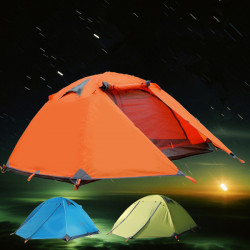 Outdoor Camping Double Layer 2 person Aluminum Rod Tent