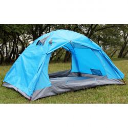 Udendørs Camping Double Layer Regntæt Solcreme Aluminum Rod Telt