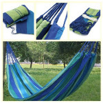 Outdoor Camping Hammock Portable Travel Beach Fabric Swing Bed Camping & Hiking