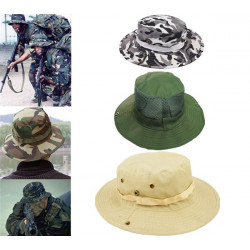 Outdoor Camping Hiking Military Sun Canvas Hat Cap