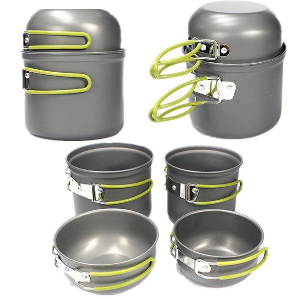 Outdoor Camping Picnic Cookware Cook Pot Bowl Set Camping & Hiking