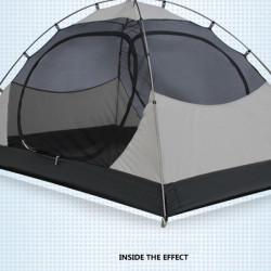 Frilufts Regnsäker Tält Två Människor Två Lager Tält