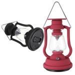 Udendørs Camping Solcellepanel Lanterne Hand Crank 7 LED Lampe Camping & Udendørs Aktiviteter