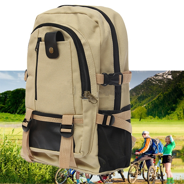Outdoor Camping Traveling Hiking Backpack Rucksack Canvas Bag Camping & Hiking