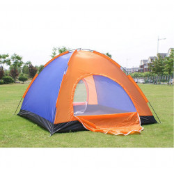 Outdoor Camping Waterproof Oxford Fabric Two Door Tent for 3-4 People