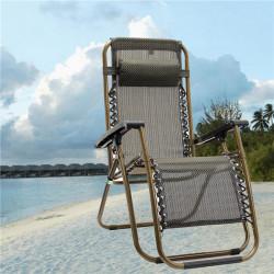 Udendørs Folding Sun Garden Lounger Hvilestol Relax Armlæn Chair