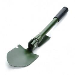 Udendørs Metal Folding Shovel med Pouch Og Kompas Green