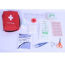 Im Freienüberlebens 12 in 1 Notfalltasche Erste Hilfe Tasche Middle Size Red