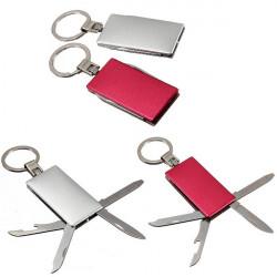 Im Freienüberlebens 5 in 1 Edelstahl Multi Function Schlüsselanhänger