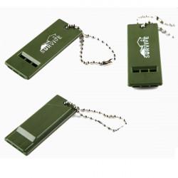 Außenüberlebens Werkzeug PVC Multi Audio Pfeife mit Schlüsselkette
