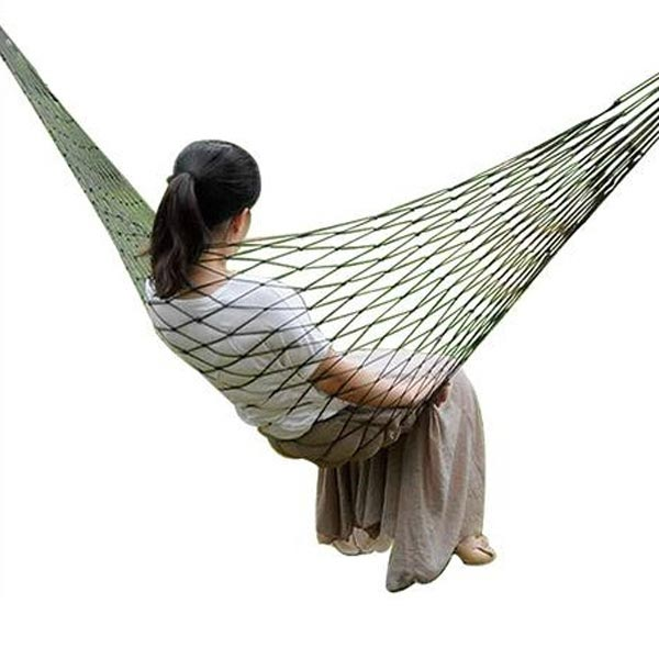 Outdoor Travel Camping 200 x 80cm Hammock Nylon Mesh Net Sleeping Bed Camping & Hiking