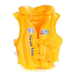 PVC Adjustable Pattern Assorted Foam Life Jacket Vest Yellow