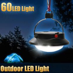 Bärbar 60 LED Camping Vandring Ljustält Paraply Natt Lampa