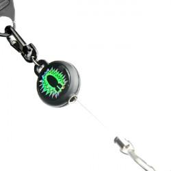 Reels Badge Stål Wire Retractable Spænde Nøglering Tyverisikring