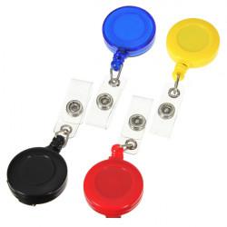 Udtrækkelig Card Key Holder Tag Reels Badge Plast Bælte Clip