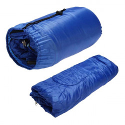 Single Waterproof Camping Sleeping Bag Outdoor Travel Sack Blue