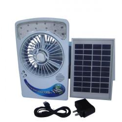 Solar Power Panel Desk Typ USB-laddning Fläkt med Eye-skydd Lampa