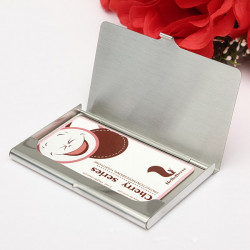 Rostfritt Stål Silver Aluminium Card Holder Case Box