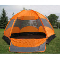 Super Large Oxford Fabric Double Layers Camping Tent For Eight People