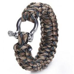 Survival Bracelet Weave Shackle Buckle Emergency Quick Release