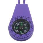 Survival Mini Kompas Scale Type med Vand Hang Rope Tilfældig Farve Camping & Udendørs Aktiviteter