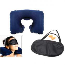 Travel Nakke Pude Pude + Eye Mask for Sleep + Ørepropper