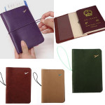 Traveling Leather Passport Card Case Document Holder Camping & Hiking