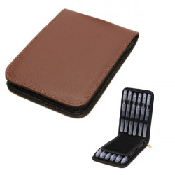 Traveling Outdoor Pen Leather Case Storage Bag For 12 Pens