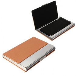 Rejser Udendørs Portable Aluminium Læder Card Case Box