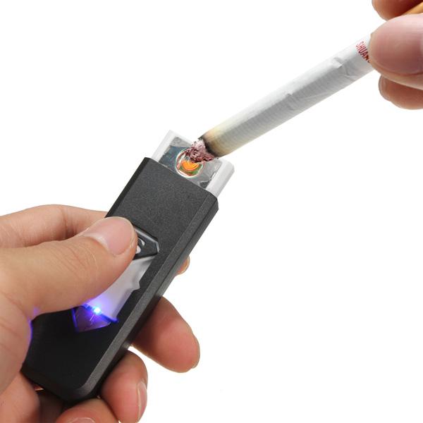 USB Elektronisk Genopladelige Flammeloes Cigarettænder Camping & Udendørs Aktiviteter