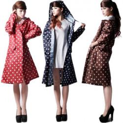 Frauen Mädchen Punkt Reise Regen Mantel Kleidung wasserdichte Regenkleidung Regenjacke