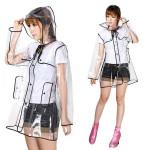 Kvinder Regnfrakke Ladies Transparent Klar Cute Regnfrakke PVC / Vinyl Camping & Udendørs Aktiviteter